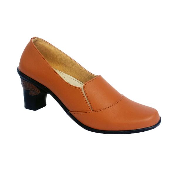 Yutaka Formal High Heel Vrandtrand Sepatu Wanita - Coklat