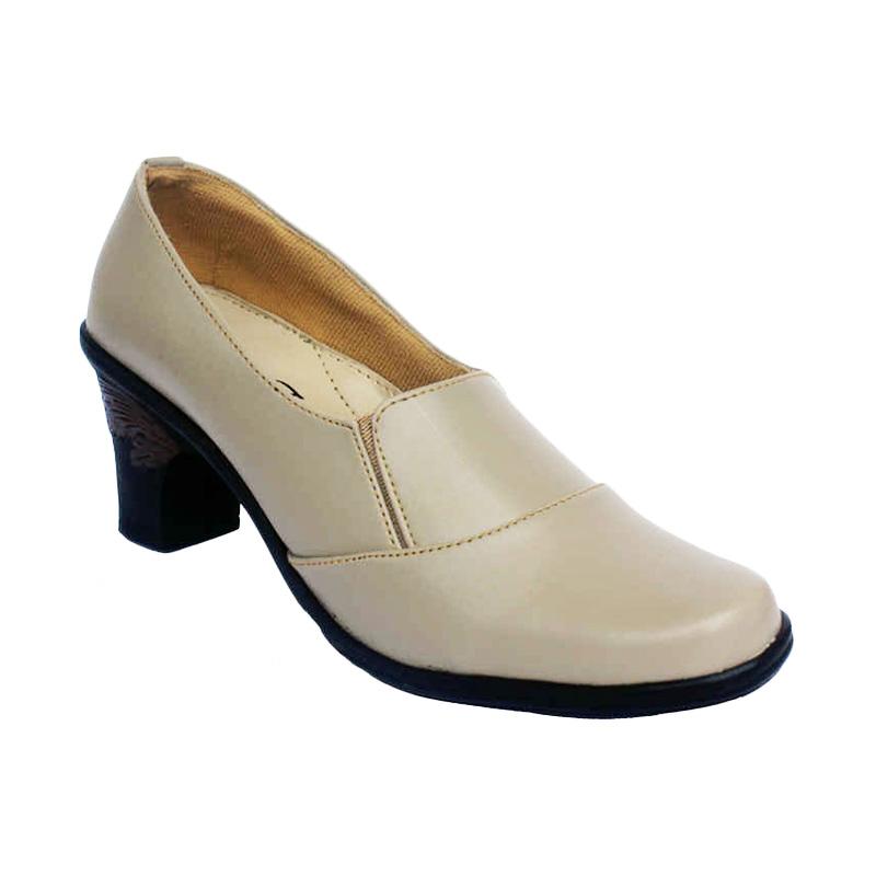 Yutaka Vrand Trand Formal High Heel Sepatu Wanita - Krem
