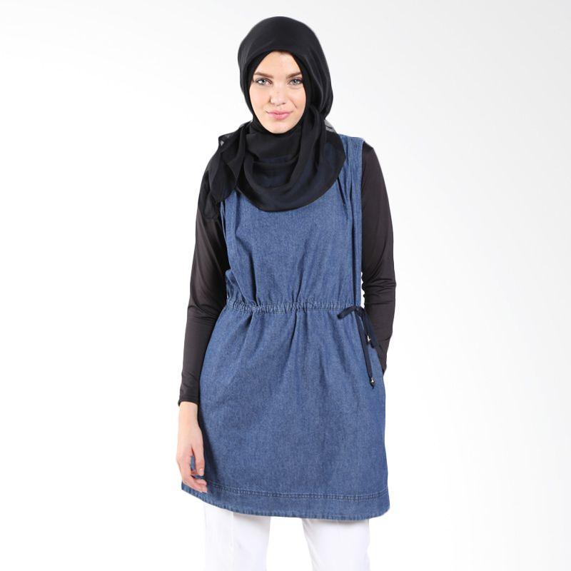 Zahra Signature Denim Arie Darkblue 10131 Dress Muslim