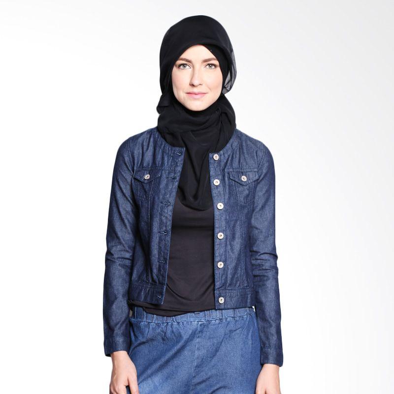 Zahra Signature Denim Mira 1025 Dark Blue Atasan Muslim