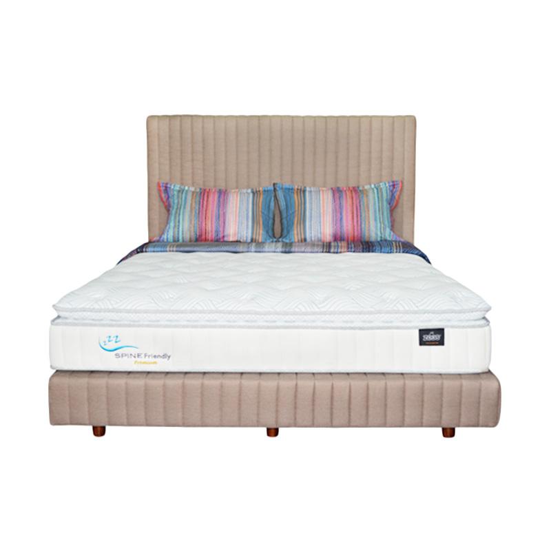 Zees Spine Friendly Premium Kasur Spring Bed [160 x 200 cm] + Free Divan + Headboard