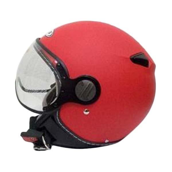 Zeus Import ZS-210 Retro Helm Half Face - Matt Red