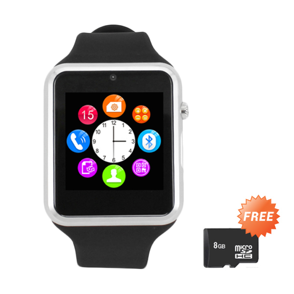 Zgpax S79 Hitam Smartwatch [Bluetooth/1.3MP] + MicroSD 8GB