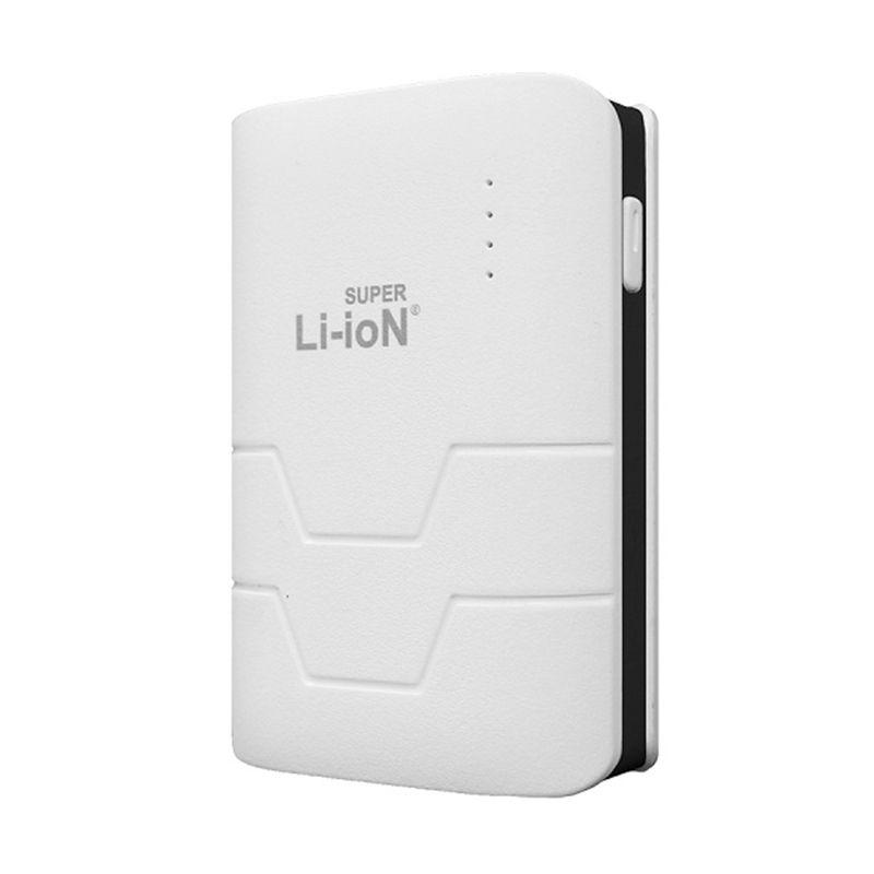 Li-ioN Mini Capsule Putih List Hitam Powerbank [7000 mAh]