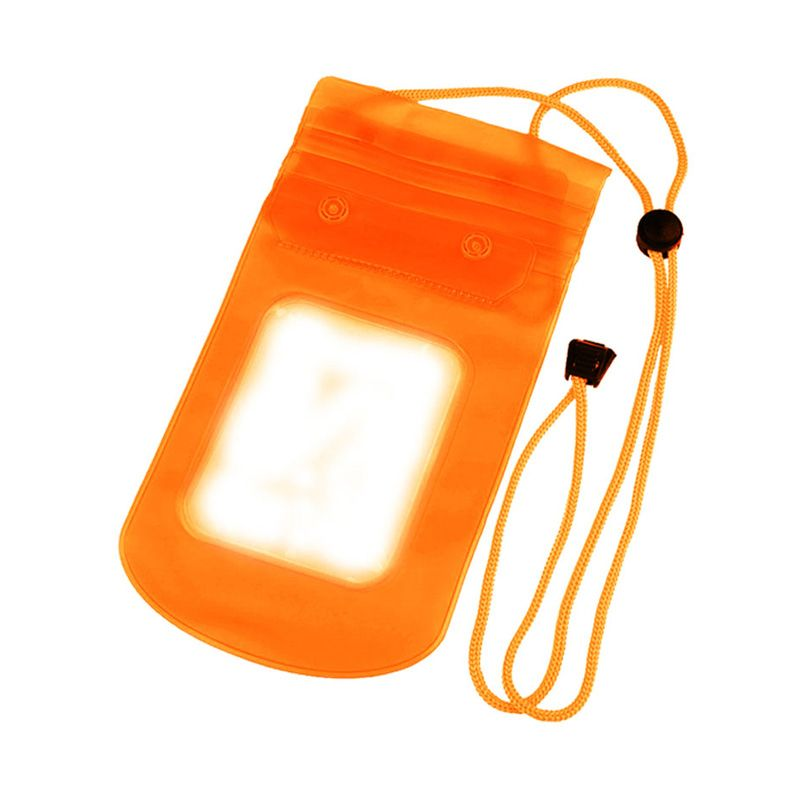 ZONA ACCESSORIES Universal Waterproof Orange Handphone dan Tablet