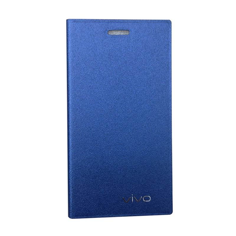 ZONA Smartcase Flip Cover Blue Casing for Vivo Y15