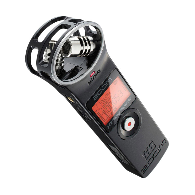 Zoom H1 Ultra-Portable Digital Audio Recorder - Black