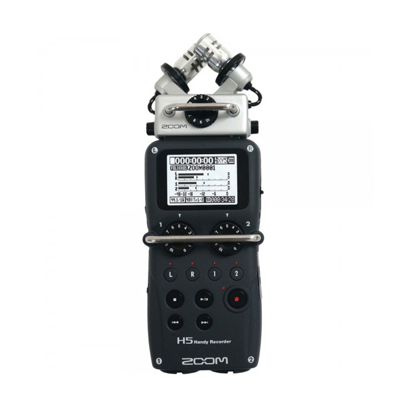 Zoom H5 Handy Recorder Hitam Perekam Audio
