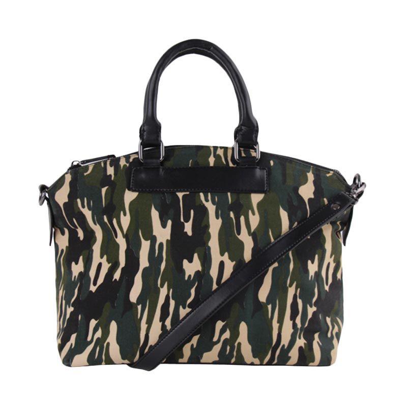 Bagquire Comouflage Green Tote Bag Tas Tangan