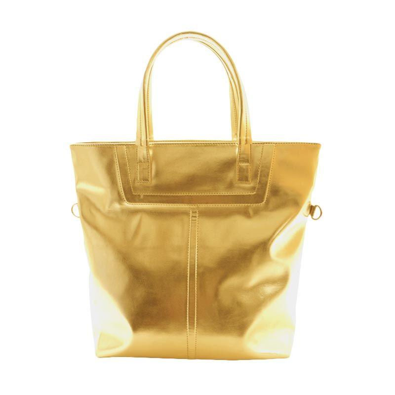 Bagquire Metallica Gold Tote Bag Tas Tangan