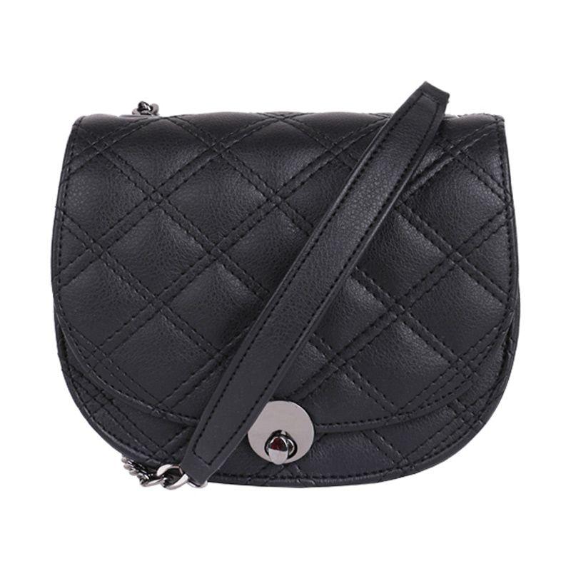 Bagquire Quilla Black Sling Bag