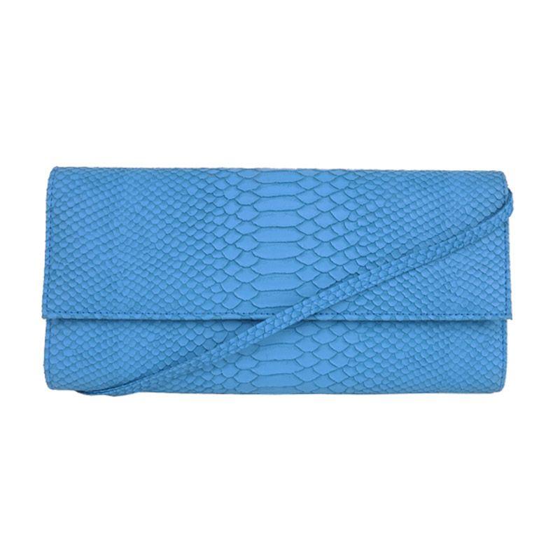 Zorra Poison Ivy Blue Clutch Bag