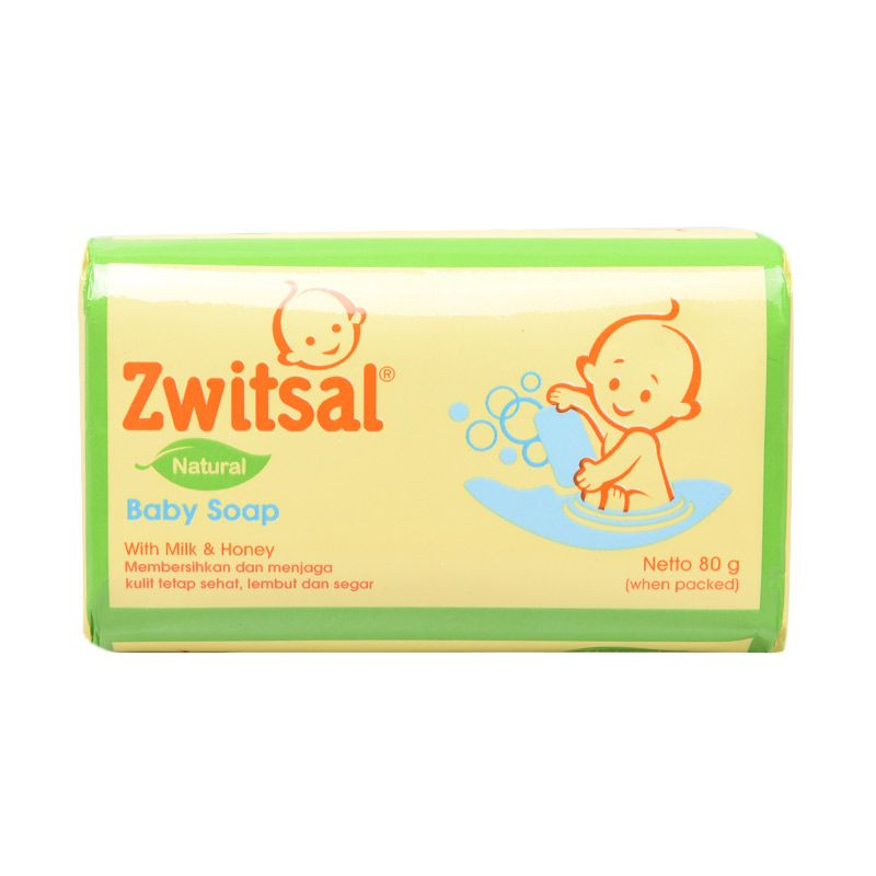 Zwitsal Baby Bar Soap Natural Milk & Honey 80gr - 21140073