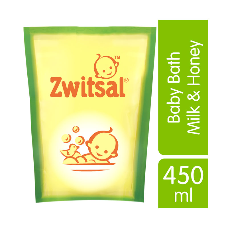 Zwitsal Baby Bath Milk & Honey 450ml - 21152891
