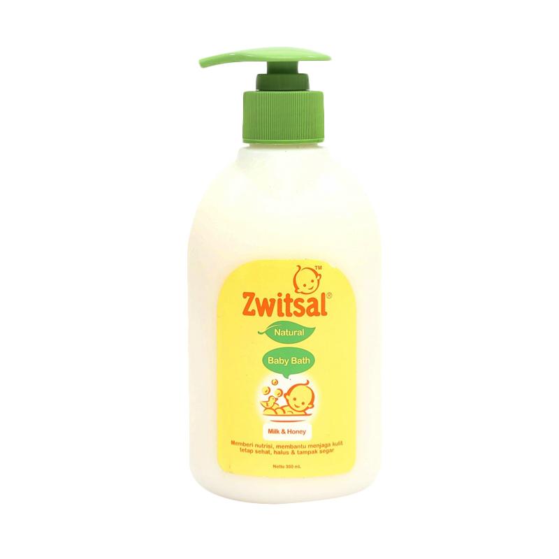 harga Zwitsal Baby Bath Natural Milk And Honey Pump [300 mL] Blibli.com