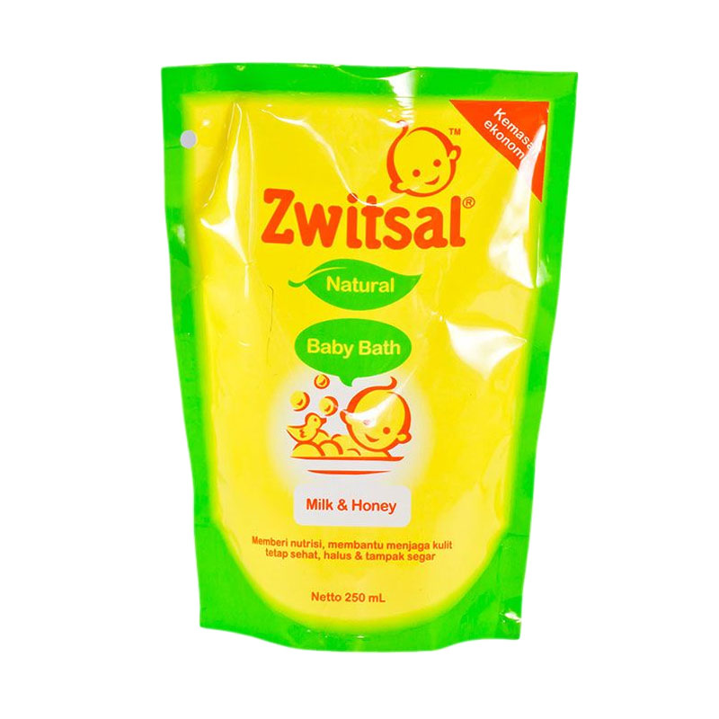 Zwitsal Baby Bath Natural Milk & Honey [Refill/250 mL]
