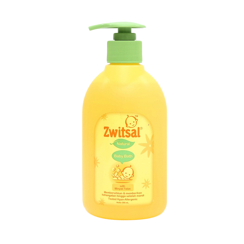 Zwitsal Baby Bath Natural with Minyak Telon Pump [300 mL]