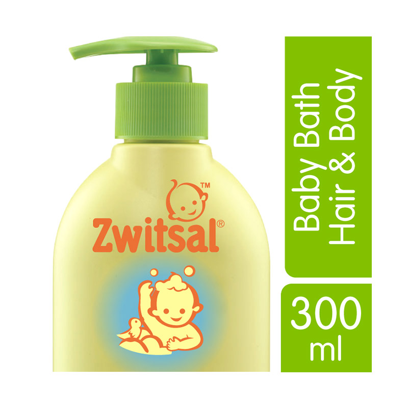Zwitsal Bath Natural Hair & Body 300ml - 21035423