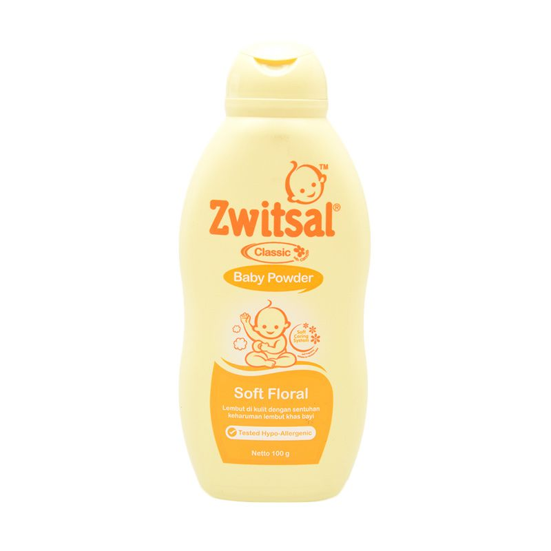 Zwitsal Classic Soft Floral Baby Powder 100gr - 60024445