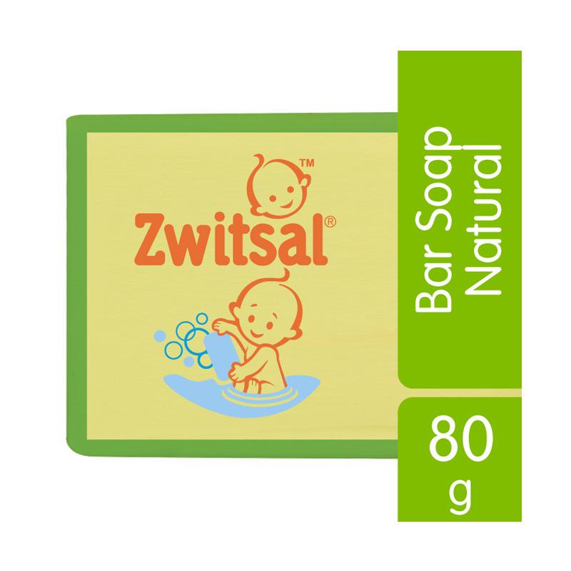 Zwitsal Natural Milk And Honey 21140073 Baby Bar Soap [Isi 5 @80g]