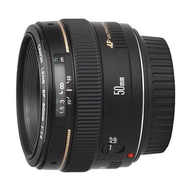 Canon EF 50mm F/1.4 USM Hitam Lensa Kamera