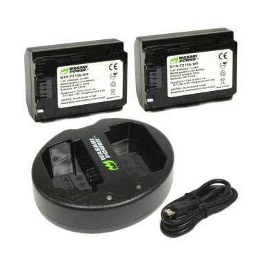 WASABI Power Kit BB-FZ100 Set Battery for Sony