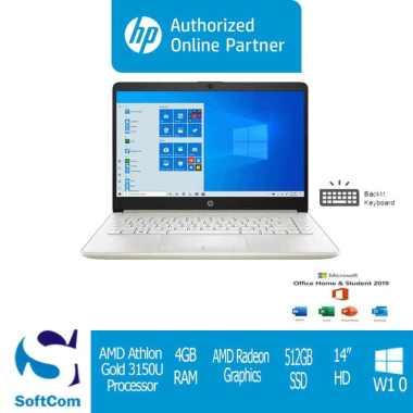 harga HP 14s-dk1123AU Notebook [AMD Athlon Gold-3150U/4GB/512GB SSD/14