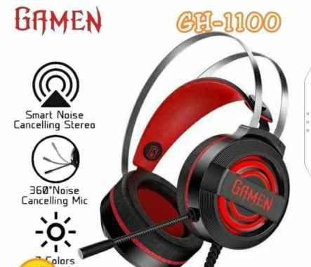 harga GAMEN Headset Gaming GH1100 7 Color Breathing Lights Black Blibli.com