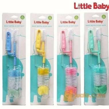 harga LITTLE BABY SIKAT BOTOL & DOT SILICONE BOTTLE BRUSH BAYI 2 in 1 Blibli.com