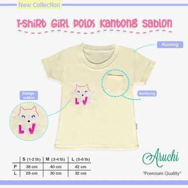 harga Aruchi Pocket Tee Premium / Kaos Oblong Untuk Usia 1 - 3 Tahun Anak perempuan M Kuning - Love Blibli.com