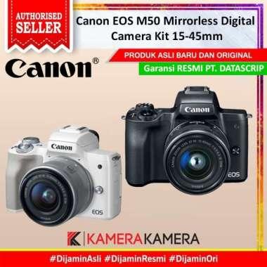 harga KameraKamera Canon EOS M50 Mirrorless Digital Camera Kit 15-45mm / Canon M50 Black Blibli.com