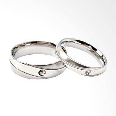 Cincin Couple Titanium Anti Karat CC016 [Female 6 & Male 10]