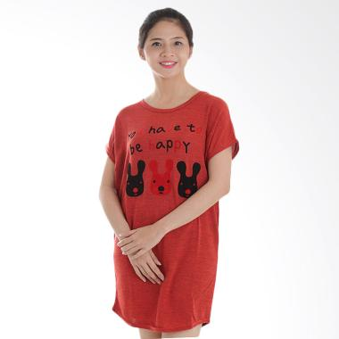 Adore Ladies Kaos Rajut Rabbit Terracotta Atasan Wanita