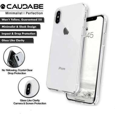 harga Caudabe Lucid Clear Case iPhone Xs Max / Xr / Xs Hard Casing Iphone Xs Max Silver Metallic Blibli.com