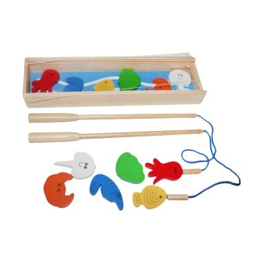 Chateda Toys 2 pcs Alat Pancing dan ... with Box Kayu Mainan Anak