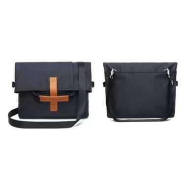 harga Tas Laptop Selempang Canvas Folded Size 13-14 inch Black Blibli.com