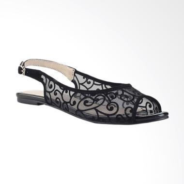 Marelli 1234 Sandal Flat Wanita - Hitam