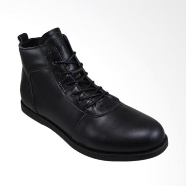 Sauqi Brodo Sperry Boots Kulit Asli Sepatu Pria - Black