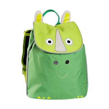 Lassig 4Kids Duffle Wildlife Rhino Mini Backpack - Hijau