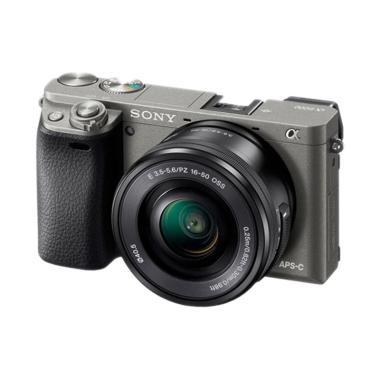 SONY ALPHA A6000L Kit Kamera Mirror ... mm F/3.5-5.6 OSS Graphite