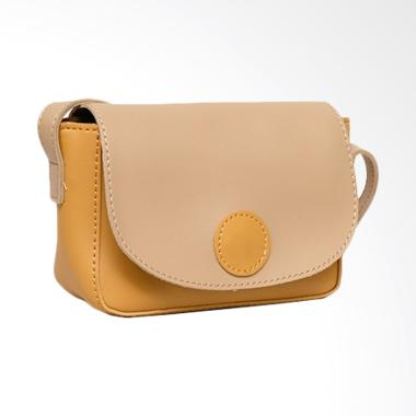 Vivaci Combi Button Import Tas Slempang Wanita - Cream Gold