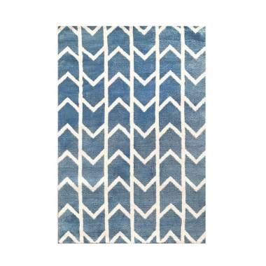 Vision Pop Arrow Karpet - Soft Blue [110 x 160 cm]