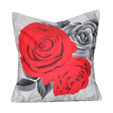 Monalisa Motif Black Rose Sarung Bantal Sofa [30 cm]