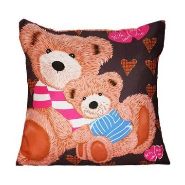Monalisa Motif Teddy Bear Sarung Bantal Sofa [Uk 40 cm]