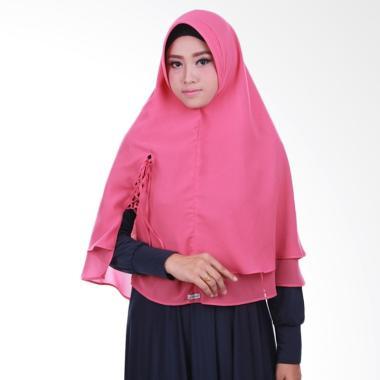 Atteena Hijab Khimar Laiqa Jilbab Instant - Dustypink