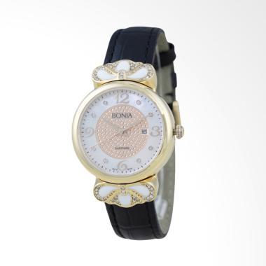 Bonia B10118-2255 Jam Tangan Wanita - Black Gold