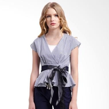 mky-clothing_mky-clothing-ribbon-belt-stripe-blouse-atasan-wanita---navy_full05 Koleksi List Harga Atasan Wanita Santai Terbaik bulan ini