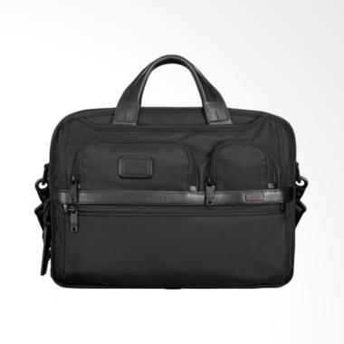 TUMI Alpha 2 Medium Laptop Slim Brief Tas Selempangan Pria - Black
