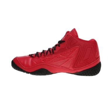 League Levitate Sepatu Basket Pria - Red Black