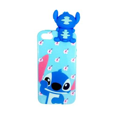 Wanky Fashion Lilo Stitch Blue Softcase Casing for iPhone 5 - Blue